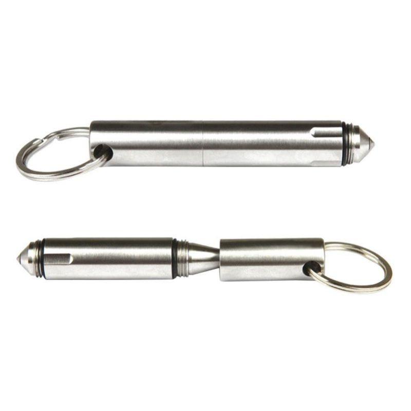 Dito Mini EDC Pocket Tactical Pen Survival Outdoor Stainless Steel Keychain Tool Broken Window Glass Breaker + 1x refills 9282