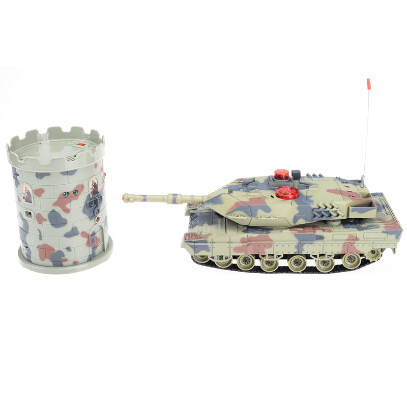 2017 Hot HuanQi 550 RC Mini Tank Battle Turret Fight With The Fort Remote Control Toys As Kid Funny Gift 2 4g huanqi 516c rc infrared battle tank automatic shows tank remote control toys tank for children gift 1pcs lot