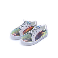 Spring Autumn Sequin Kids Casual Shoes Children Sneakers School Students Casual Shoes PU Leather And Anti Slip kids Sneakers