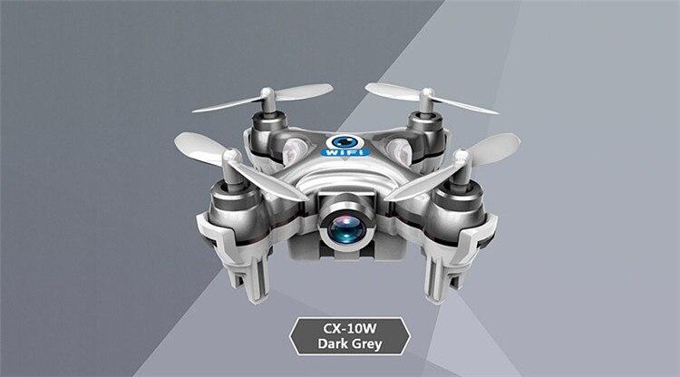 16 Cheerson CX-10W CX 10W Drone Dron Quadrocopter RC Quadcopter Nano WIFI Drone with Camera 7P FPV 6AXIS GYRO Mini Drone 7