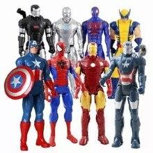 30 см Marvel Мститель супер герой Бесконечность войны Росомаха Железный человек Американский капитан Тор фигурка Modell кукла Дети