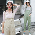 Women Fashion Green Beige Color Denim Overalls Dungarees Jumpsuit Ladies Casual Skinny bodysuit Jeans Pants Rompers JS-5572