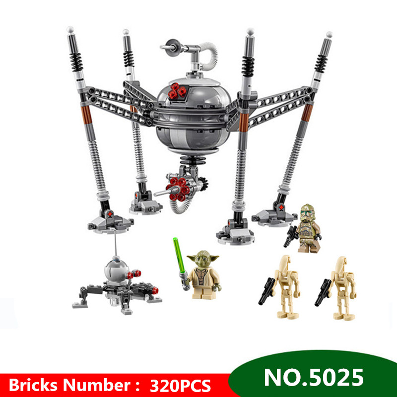 все цены на 320pcs Diy Technic Building Blocks Spider Robots Compatible With Legoingly Star Wars Bricks Toys For Children Brinquedos