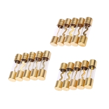 5Pcs Gold Plated Glass AGU Fuse Fuses Pack Car Audio Amp Amplifier стоимость