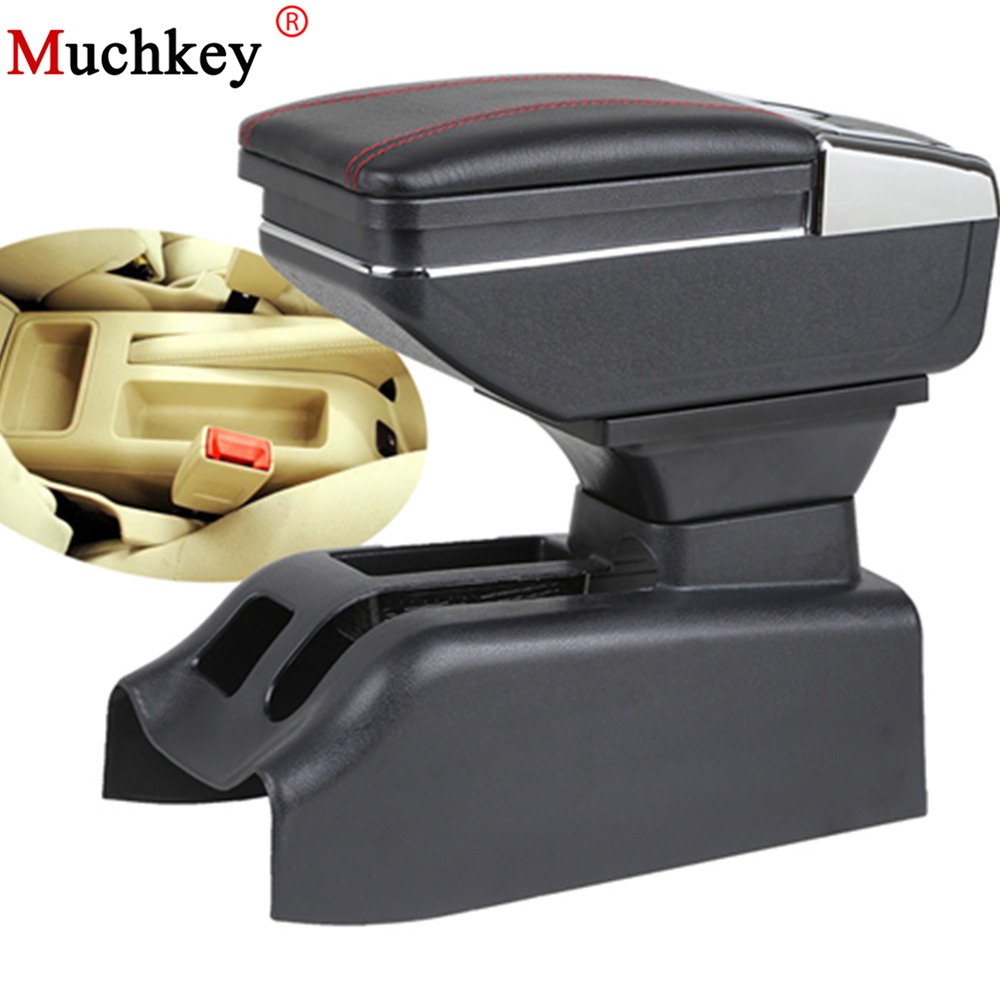 For Volkswagen Bora Golf 4 armrest box central Store content Storage box cup holder ashtray console arm PU Leather car styling