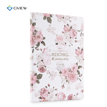 Gview Case For Ipad 2017 9.7″ A1822 A1823 – 3d Embossed PU Leather Flip Cover Stand in Luxury Floral Fashion Style