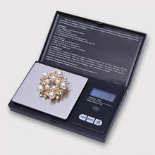 Mini Precision Digital Scales for Sterling Scale Jewelry 0.01 Weight Electronic Scales With LCD screen 13*7.5*2cm Black