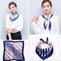 Люксовый бренд платки шарфы для женщин небольшой площади шелковый шарф для женщин печати femme модные аксессуары 60*60 см