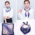 Luxury brand foulard scarves for women small square silk neckerchief for women print femme fashion accessories 60*60cm