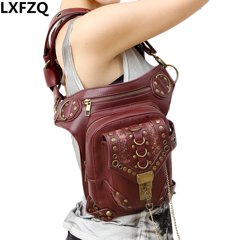 купить waist bag women Steam punk Multi-purpose Protected Purse Shoulder carteras mujer Motor leg bag belt bag men package Outlaw Pack в интернет-магазине