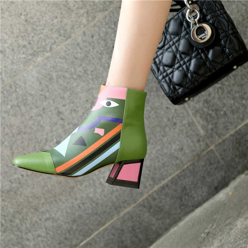 FEDONAS moda marka kadın ayak bileği kar botları sıcak yüksek topuklu bayan ayakkabıları kadın parti düğün pompaları temel hakiki deri çizmeler