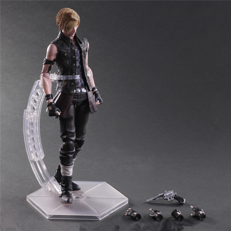 Boxed Play Arts Final Fantasy XV PROMPTO ARGENTUM 25cm Doll Movie PVC Action Figure Resin Collection Model Toy Gifts Cosplay