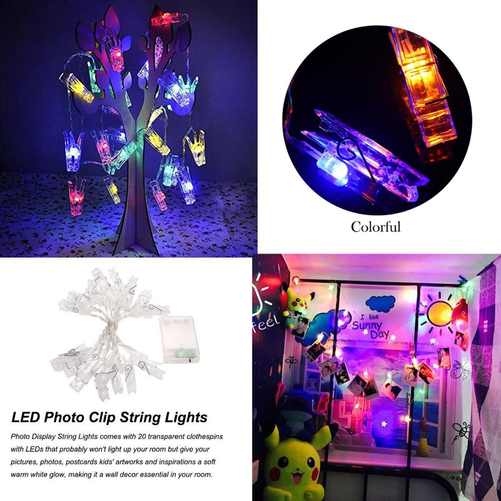 10 Led string lights Card Pictures Photo Clip Light curtain for Christmas Wedding Festival Party holiday decoration Fairy Light