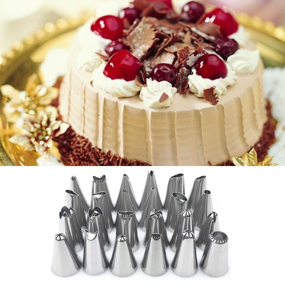 24Pcs Flower Icing Piping Nozzles Tips Cake Sugarcraft Pastry Decor Bake Tools
