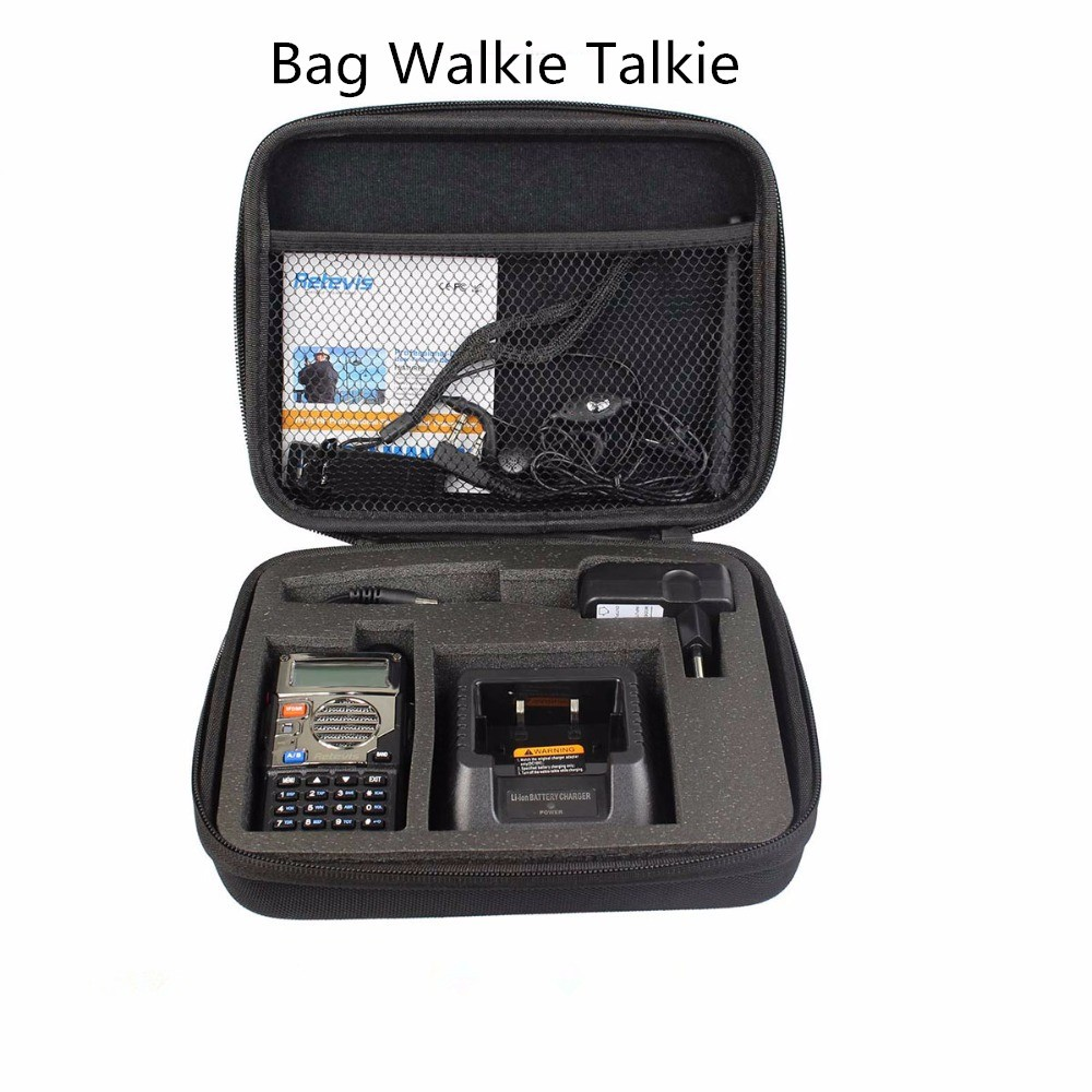 Abbree Handbag Storage Box/Bag Carrying Radio Case for Baofeng UV-5R 5RA/B/C/D/E/ UV-82 BF-888S TYT Wouxun Walkie Talkie Ect