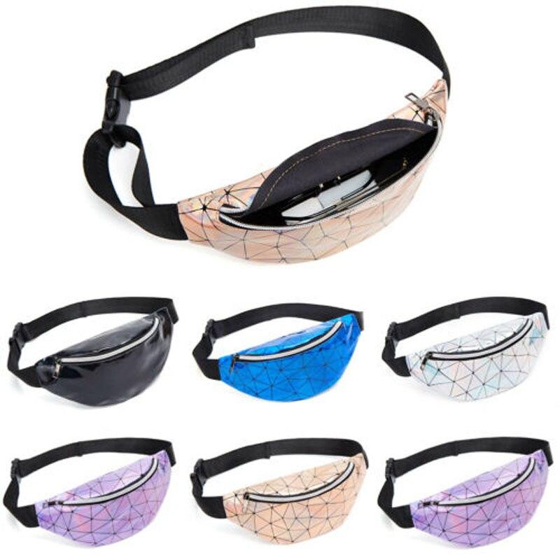 2019 New Brand Fashion Fashion Waist Fanny Pack Women PU Leather Belt Zipper Waist Bag Casual Chest Bag