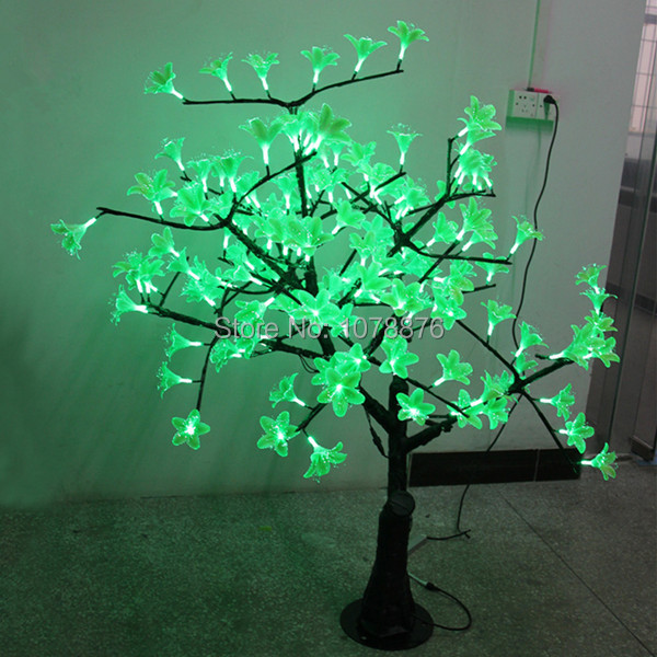 manufacturers wholesale led fiber optic christmas flower light 15 meters tall green outdoor rain landscape lamp