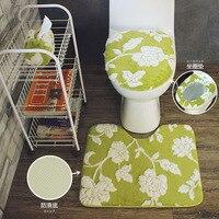 3pcs Toilet Seat Set Seat Cover Thick Overcoat Toilet Case Seat Mats Bathroom Carpet High Quality