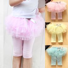 Kids Baby Girls Skirts Summer Skirt Leggings Gauze Pants Party Skirts Bow Candy Tutu