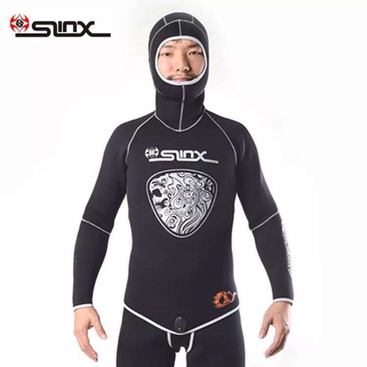 Image 5 - New Brand 5MM Neoprene Hood Wetsuits For Men Scuba Dive Equipment Spearfishing Warm Winter Swim 2 Piece Split Cap Hat Wet Suit-in Wetsuit from Sports & Entertainment