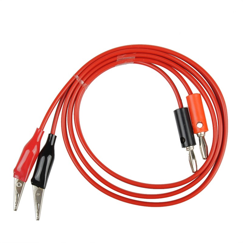 Double Stitch Alligator Test Lead Clip To Probe Cable For Multimeters