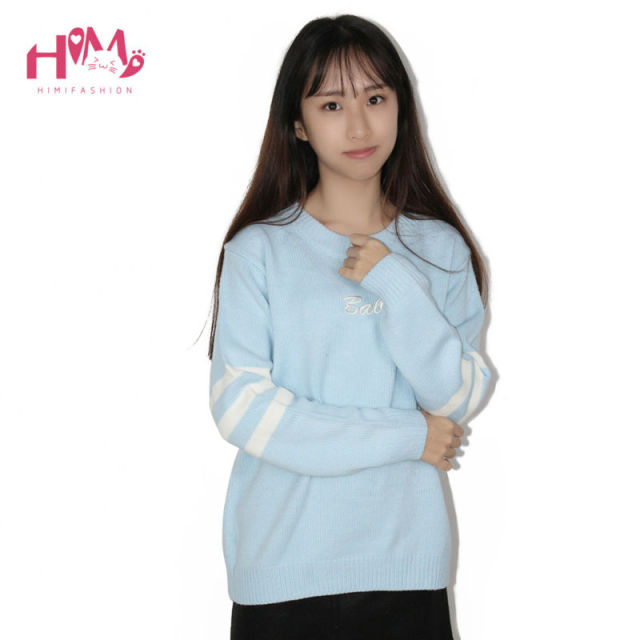 Baby Blue Baby Pink Knitted Sweater Pink Keep Warm Bottoming Women Winter Shirt Hot Korean Japanese Fashion Cute Hooded Sweater