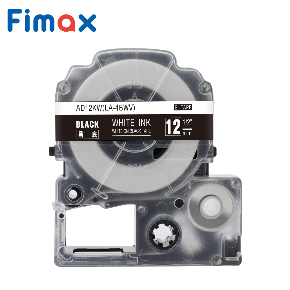 Fimax 1 Pcs 20 Color 12mm ST12KW SS12KW LC-4WBN SC12YW Black On White Label Maker For LW300 LW400 Compatible For Epson/King Jim