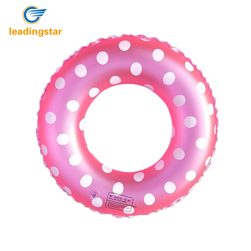 LeadingStar Colored Dots Summer Ring Inflatable Pool Water Float Raft for Kids Adult - COLOR RANDOM zk30