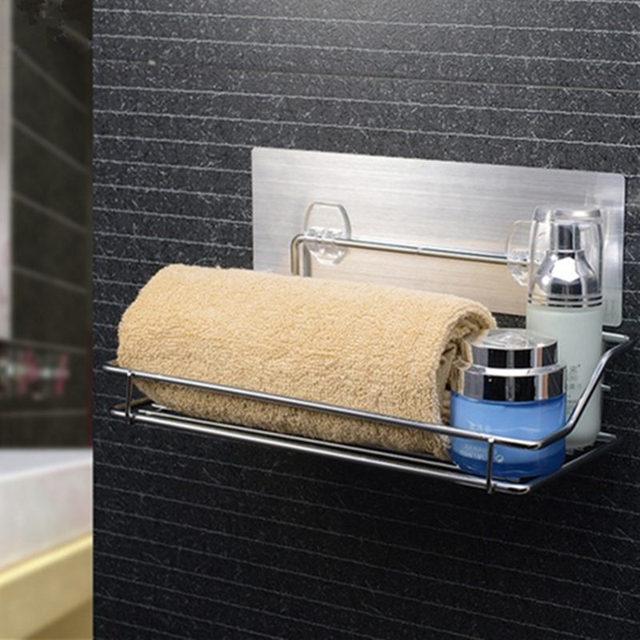 US $17.0 50% OFF|Küche Sauger Regal Badezimmer Wandregal Vakuum Halter Rack  Edelstahl Wand Hanger Organizer Lagerregal in Küche Sauger Regal ...