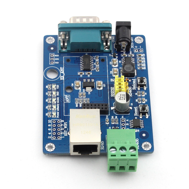 USR-WIFI232-2EV2 Free Shipping WIFI Module Evaluation Board Test RS232/RS485 to WIFI to Ethernet lora performance evaluation board test board