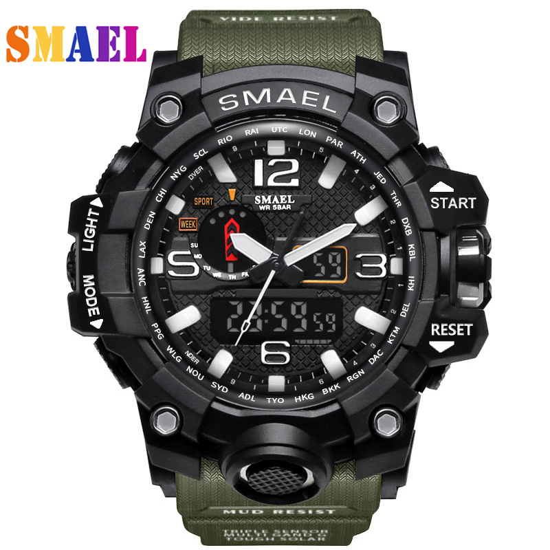 Digital Sport Watch Men 2017 Clock Male LED Quartz Wrist Watches G Style Men's Top Brand Luxury Digital-watch Relogio Masculino