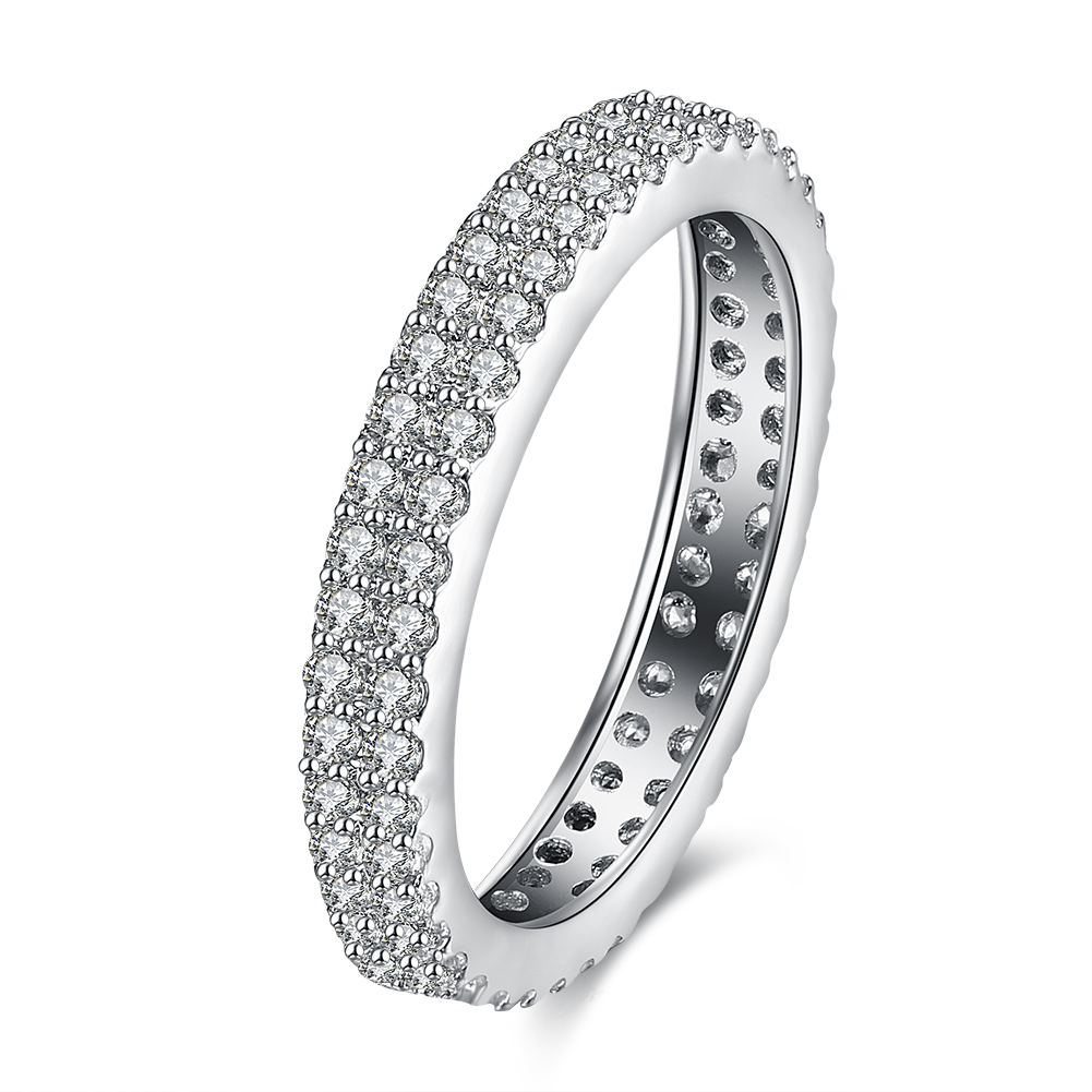 big discount women wedding rings cz diamond white gold plated white crystal ring lovers gift - Discounted Wedding Rings