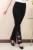 Flare invierno de las mujeres pantalones largos de cintura alta pantalones formales de oficina más el tamaño 6xl pantalones flacos del bordado pantalones de danza