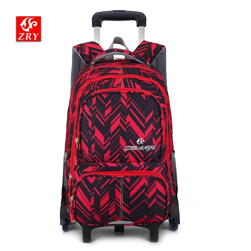 где купить New Children School Bags Trolley Backpacks For Boys Schoolbag Kids Luggage Bag On Wheels Backpack Men Bolsas Mochila Escolar по лучшей цене