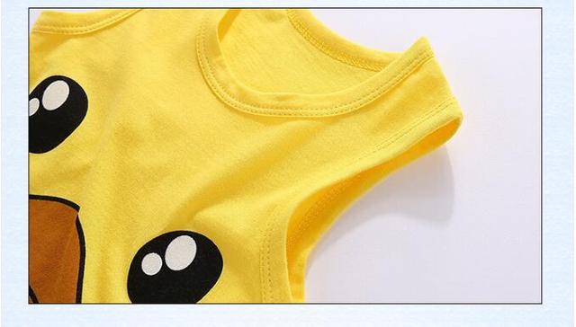 Orangemom yaz 2020 bebek bodysuit sevimli penguen tarzı tek parça tulum ucuz erkek bebek giysileri yenidoğan yelek giysileri erkek bebek