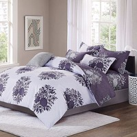 LILIYA 4 6Pieces Polyester Flowers Bedding Set Cozy Pillowcase High Quality Duvet Cover X F