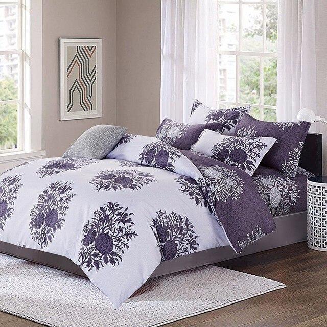 Лилия 4/6 штук полиэстер цветы Постельное белье Уютный наволочка высокое качество Набор пододеяльников для пуховых одеял X-F
