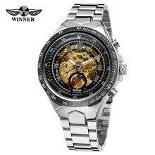 WINNER Men Gold Watches Automatic Mechanical Watch
