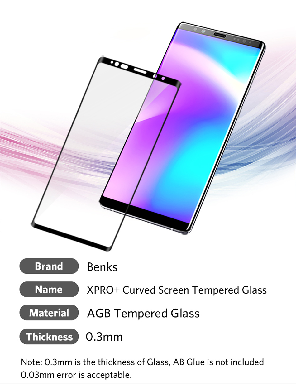 Benks Full Cover Tempered Glass 9H For Samsung Note9 0.3mm Thin Protector Screen Front Film (12)