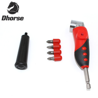Dhorse 105 Degree Driver Adapter Set Adjustable Right Angle Bit And 4pcs Screwdriver Bits Combination Kits