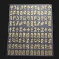 108PCS 3D DIY Flower Design Nail Art Stickers Flower Manicure Tips Decals Stickers