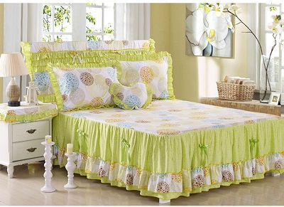 Summer Cotton Bed Skirts Twin Full Queen King Size Bedding
