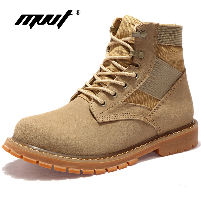 Quality Classic Men Desert Boots Nubuck Genuine Leather Boots Men Outdoor Military Boots Canvas Combat Boots Outdoor Shoes combat boots desert tan lug sole military boots page 4