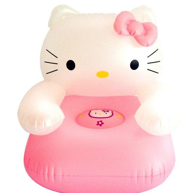 Niños lindos PVC inflable de la silla hola gatito sofás, bebé de ...