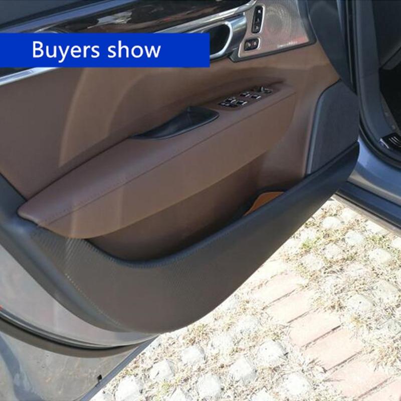 4pcs Carbon Fiber Stickers Car Door Anti-kick Protection Film For Volvo XC60 S60 V60 V40 XC90 V90CC