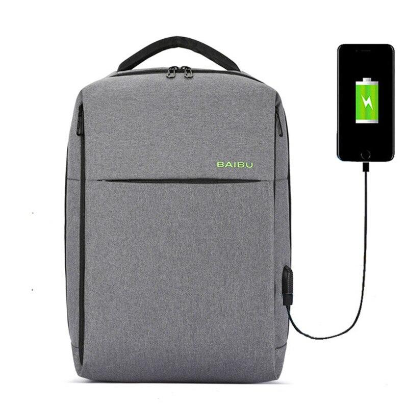 Anti-vol 15.6 pouces sac à dos pour ordinateur portable hommes USB paquet de charge Rechargeable Double hommes tourisme affaires embarquement voyage sac à dos