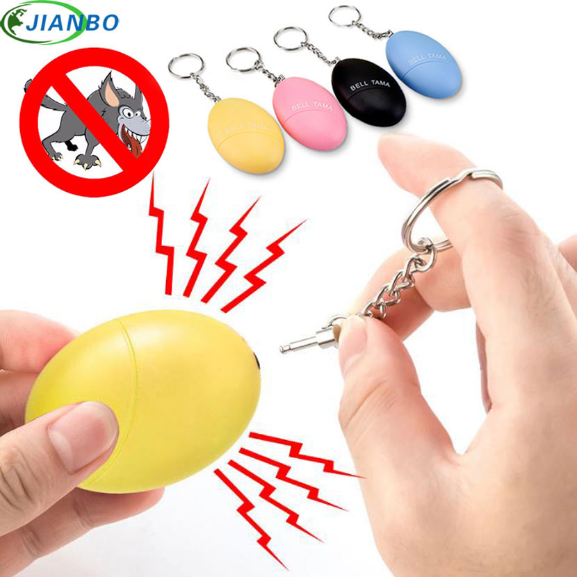 4color Self Defense Alarm 120DB Egg Shape Girl Women Security Protect Alert Personal Safety Scream Loud Keychain Emergency Alarm ...