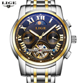 Relojes Watches Men Top Brand Luxury LIGE Tourbillon Automatic Mechanical Watch Mens Fashion sport Wristwatch relogio masculino