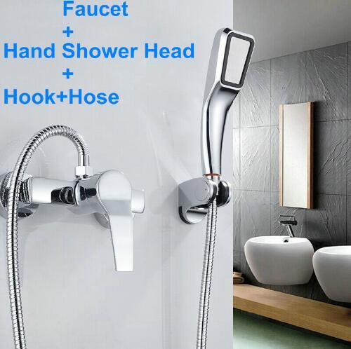 Bathroom Shower Faucet Bath Faucet Mixer Tap With Hand Shower Head Shower Faucet Set Wall Mounted
