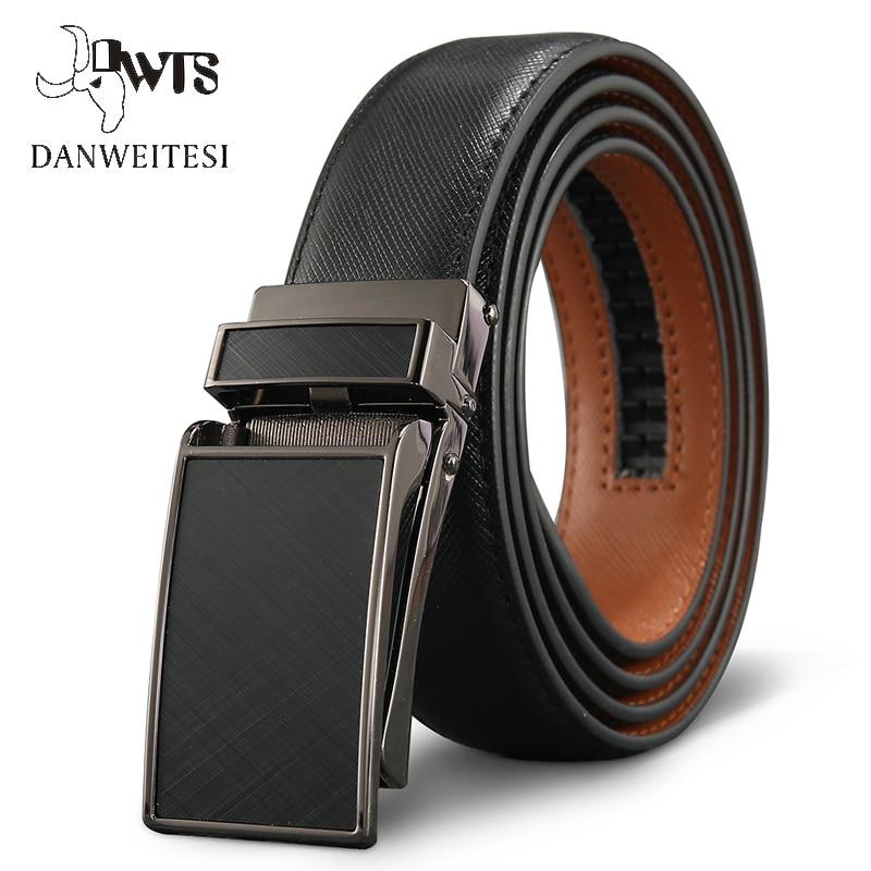 [DWTS]Belt Male Men's belt  Genuine Leather Strap luxury brand Automatic Buckle Belts For Men Belts Cummerbunds  cinturon hombre